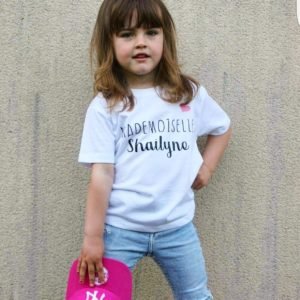 "T-SHIRT KIDS ""M. ou Mlle + prénom"" **option BIO**"