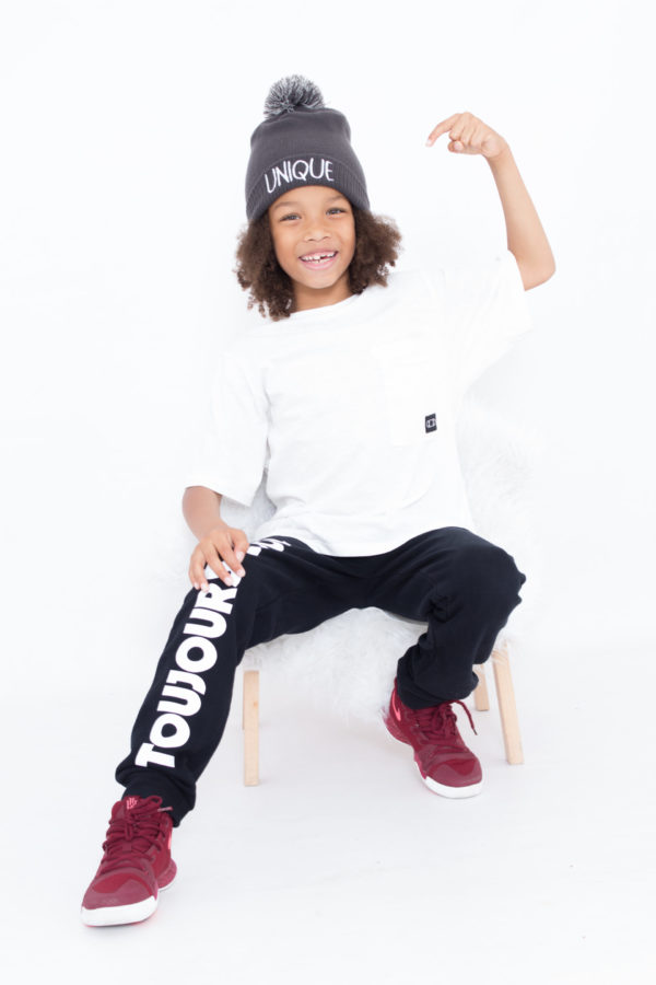look enfant pantalon et bonnet personnalisé