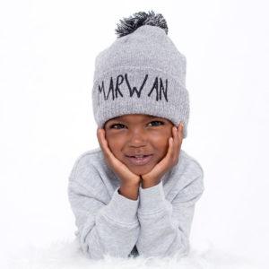 Bonnet enfant brodé «prénom»