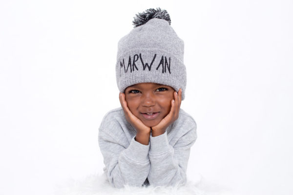 """bonnet brodé personnalisé """"Marwan"""""""