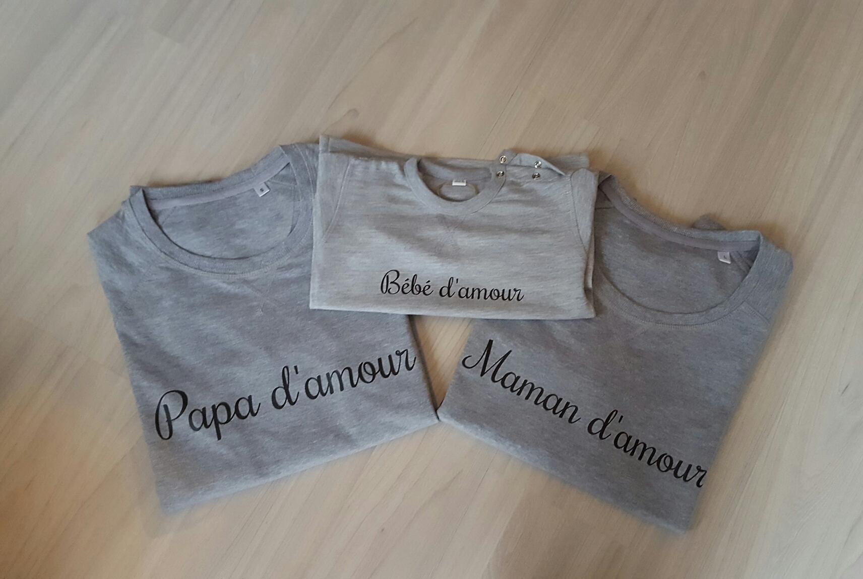 Sweat D'amourmarraine Adulte Papa Maman Modèle Parrain cjq3LSA54R