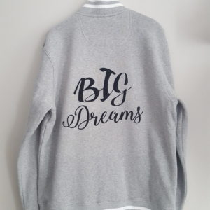 Veste Teddy adulte, « Big dreams » ou « Big love »