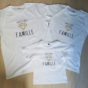 "Tee-shirt BIO > adulte ""sacrée famille"""