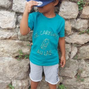 Tee-shirt / body enfant «Je carbure au lait»