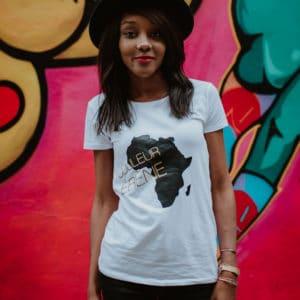 """Tee-shirt FEMME """"Couleur Ébène"""" – option BIO"""