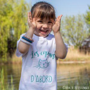 Tee shirt KIDS «Les copains / copines d'abord !» *option BIO*