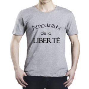 Tee-shirt adulte «Amoureux(se) de la liberté»