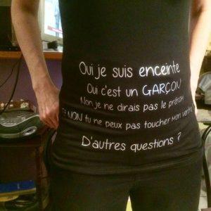 Tee-shirt femme : annonce de grossesse