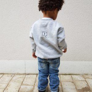 Sweat ENFANT modèle «Monsieur OU Mademoiselle, NON»