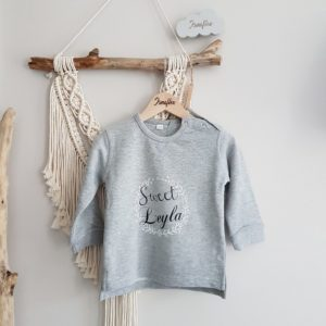 Sweat-shirt, enfant « Sweet + prénom »