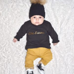 """Sweatshirt """"Bébé d'amour"""" ou """"Mini d'amour"""""""
