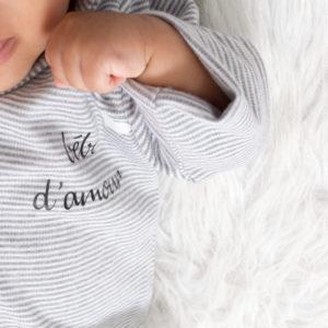 Veste bébé BIO personnalisée