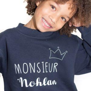 Sweat ENFANT modèle «Monsieur / Mademoiselle»