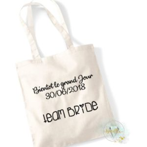 Tote bag Events Bientôt le grand Jour