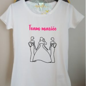 T-Shirt Events Team Mariée / Team Bride -option BIO