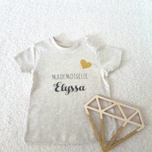 """Tee-Shirt BABY """"Monsieur ou Mademoiselle + prénom"""""""
