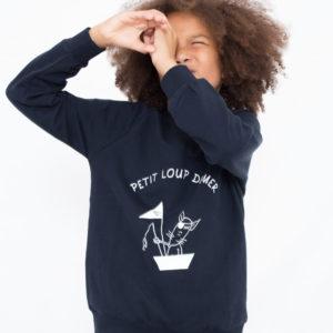 ☆ NEW CO☆ Sweat ENFANT modèle «Petit loup de mer»