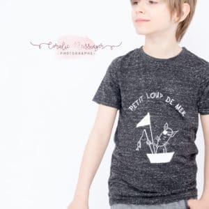 "☆NEW CO☆ Tee-shirt enfant ""Petit loup de mer"""