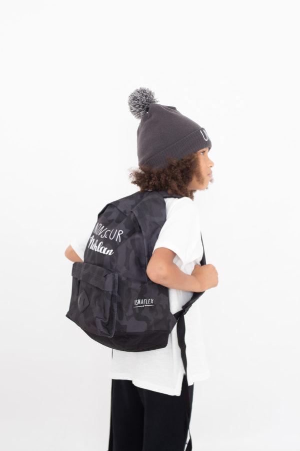 """bonnet brodé et sac à dos personnalisé """"Nohlan"""""""