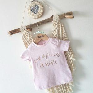 Tee-shirt bébé/kids «c'est de famille»