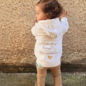 Veste enfant «Un peu, beaucoup, passionnément»