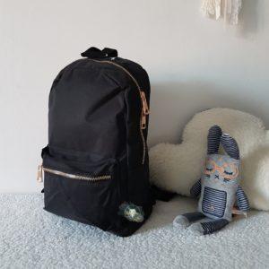 NEW Mini sac à dos zip doré personnalisé