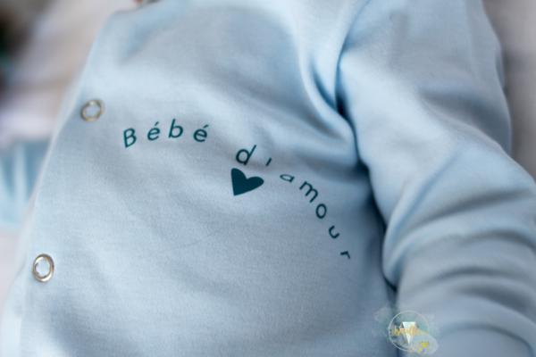 "pyjama bébé ""bébé d'amour"""