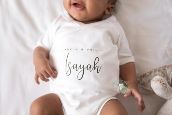 body bébé personnalisable