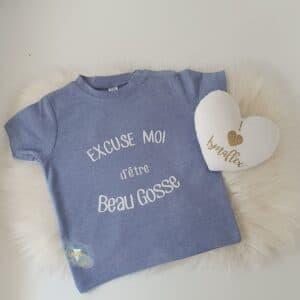 Tee-shirt «excuse moi d'être beau / belle gosse»