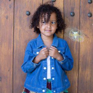 Veste en jean bébé /enfant prénom et année de naissance