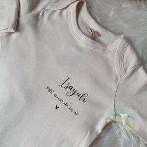 Pyjama bébé bio personnalisé