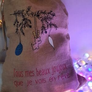 Hotte de Noël Forêt scintillante DISPO DE SUITE