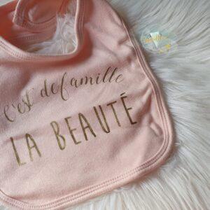 Bavoir bébé rose DISPO DE SUITE