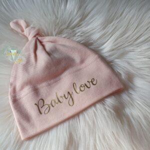 Bonnet bébé rose Baby Love DISPO DE SUITE