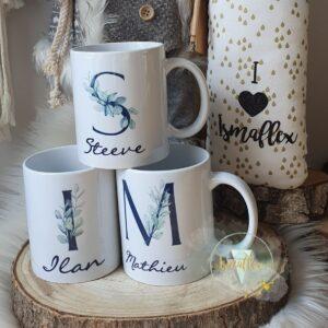 Mug personnalisé «initiale»