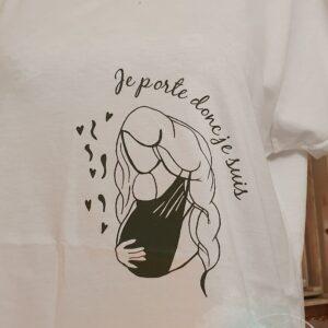 Tee shirt «je porte donc je suis»